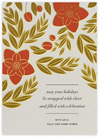Hellebores - Paperless Post - Holiday Cards