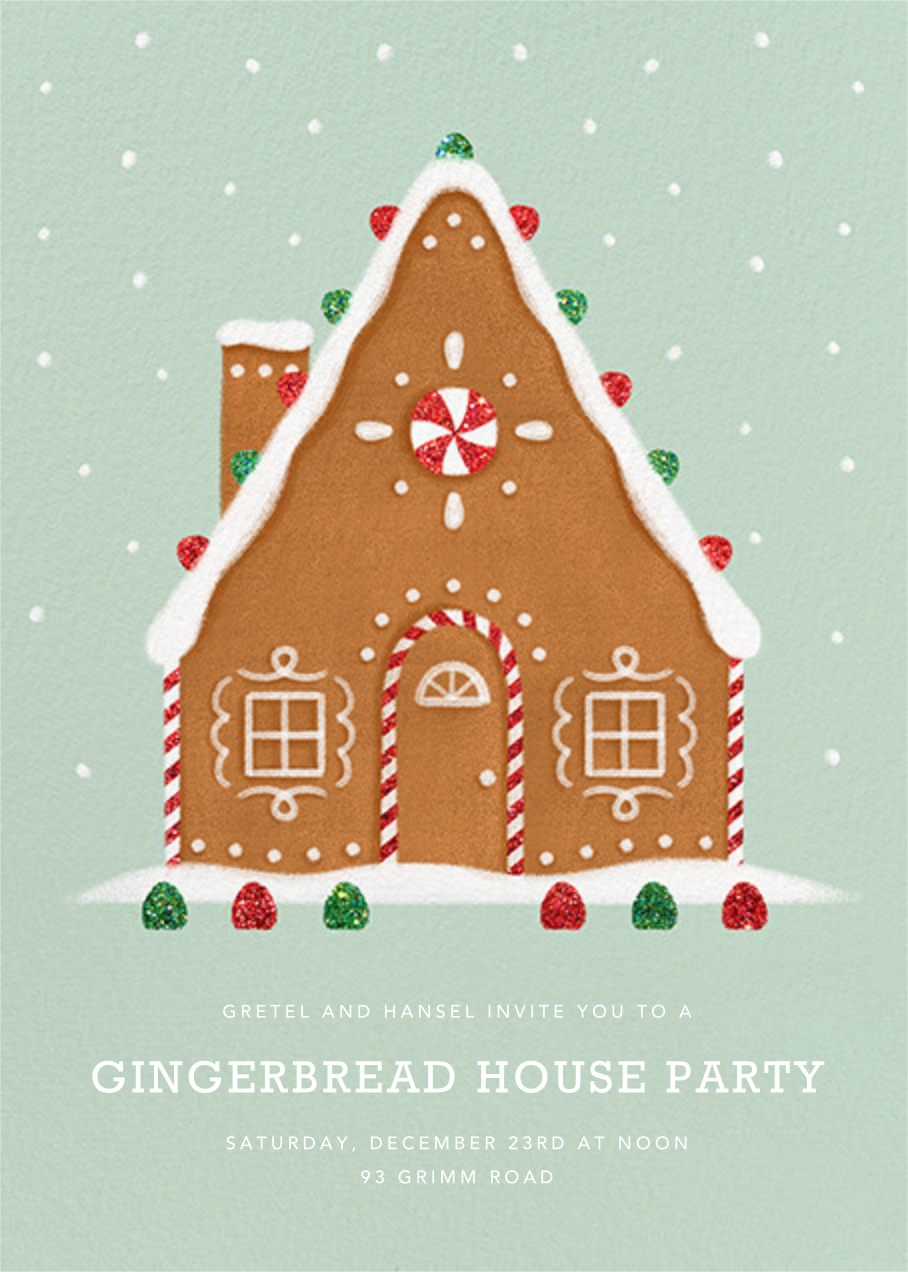 Gingerbread Chalet - Paperless Post - Holiday party invitations
