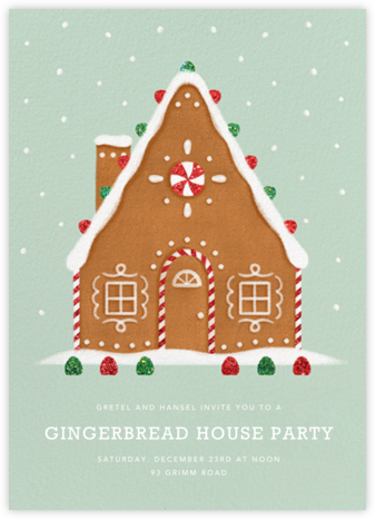 Gingerbread Chalet - Paperless Post - Christmas invitations