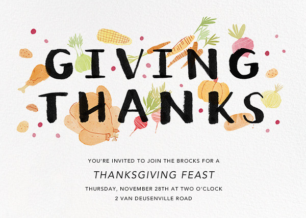 Thanksgiving Morsels - Paperless Post - Thanksgiving invitations