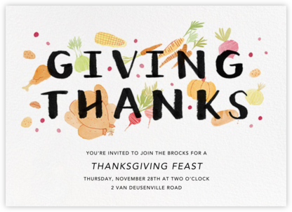Thanksgiving Morsels - Paperless Post