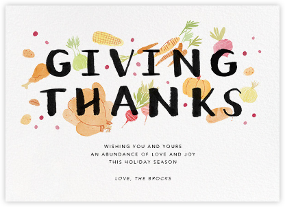 Thanksgiving Morsels - Paperless Post - Thanksgiving Cards