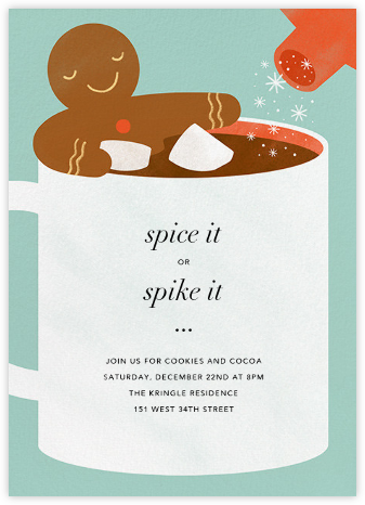 Cocoa Tub - Paperless Post - Holiday party invitations