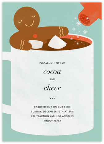 Cocoa Tub - Paperless Post - Holiday invitations