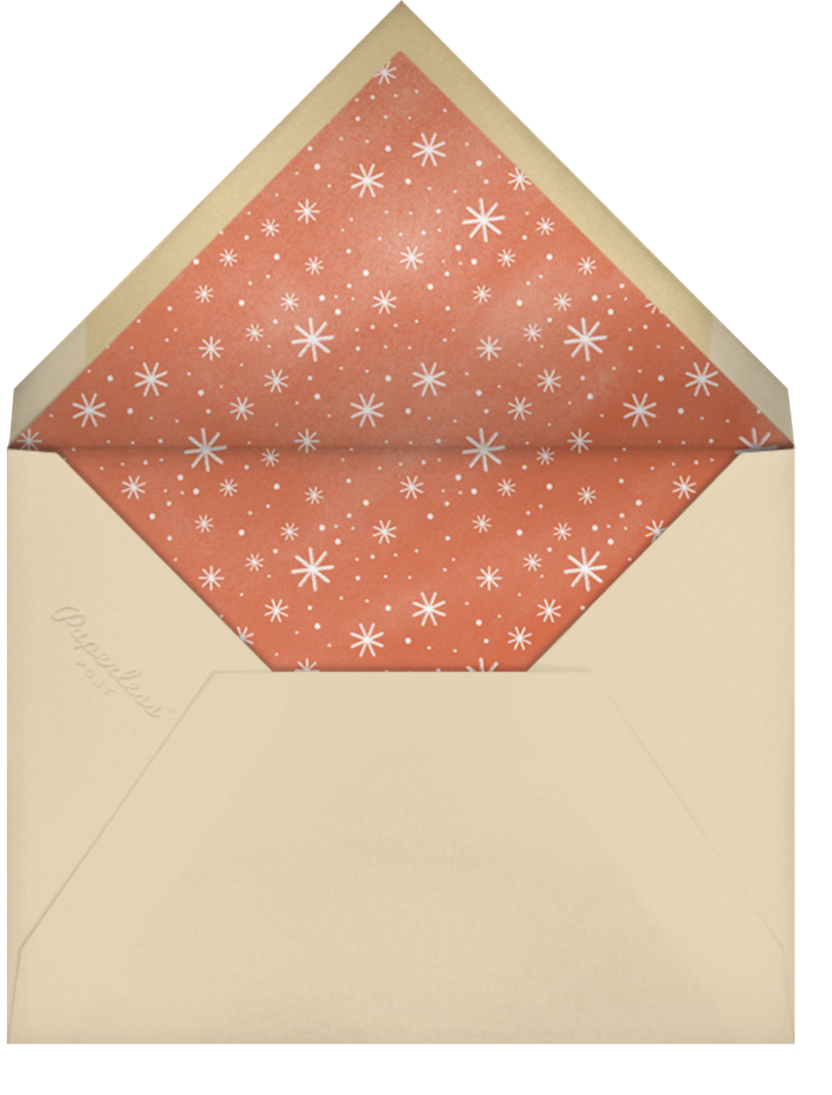 Cocoa Tub - Paperless Post - Holiday party - envelope back