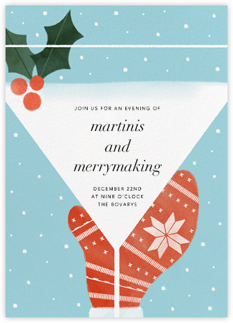 Mistletoe Martini - Paperless Post - Christmas invitations