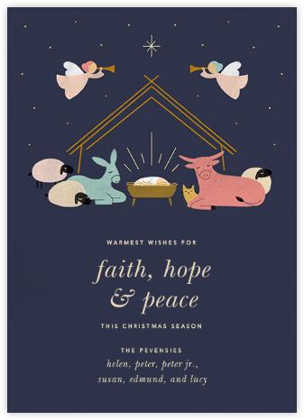 Little Manger - Paperless Post - Affordable Christmas Cards