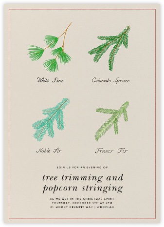 Conifer Classification - Paperless Post - Holiday invitations