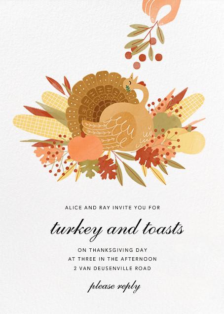 Caesar Dressing - Paperless Post - Thanksgiving invitations