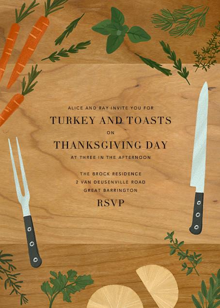 Butcher's Block - Paperless Post - Thanksgiving invitations