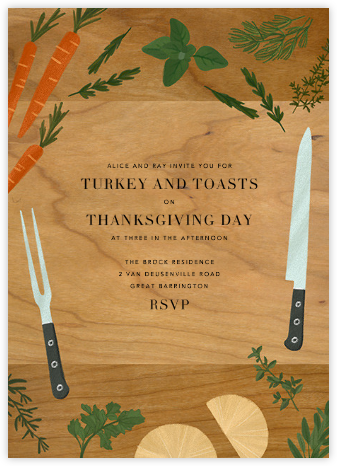 Butcher's Block - Paperless Post - Thanksgiving invitations