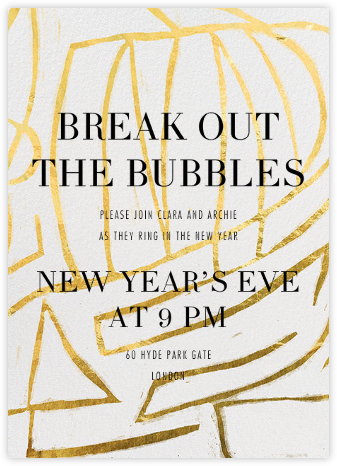 Rapture - Gold - Kelly Wearstler - New Year's Eve Invitations