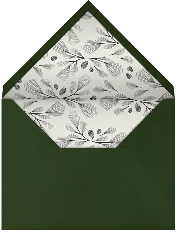 Sugar Pine - Hunter/Gold - Paperless Post - Winter parties - envelope back