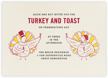 Plymouth's Plumpest - Paperless Post - Thanksgiving invitations