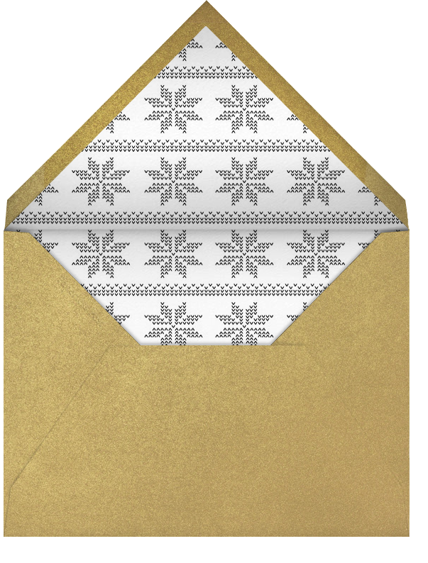 Love Is All Around - Gold - Paperless Post - New Year - envelope back