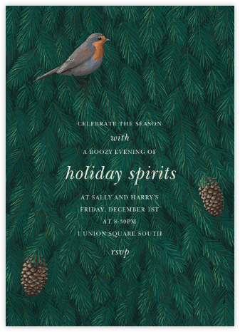 Robin in Blue - Paperless Post - Winter Party Invitations