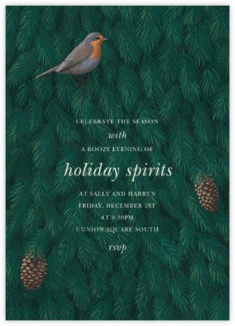Robin in Blue - Paperless Post - Winter entertaining invitations