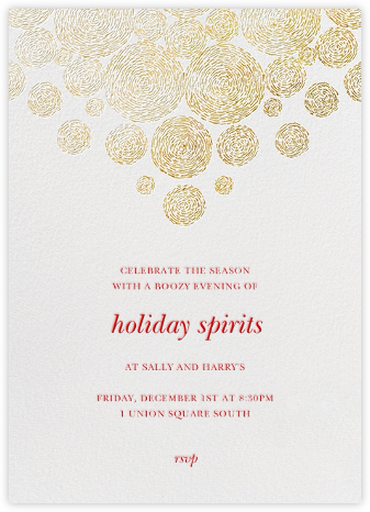 Radiant Swirls (Tall) - Oscar de la Renta - Holiday party invitations