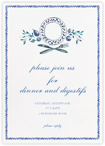 Plat du Jour - Happy Menocal - Dinner party invitations