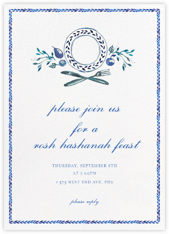 Plat du Jour - Happy Menocal - Rosh Hashana Invitations