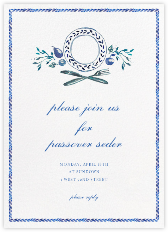 Plat du Jour - Happy Menocal - Passover invitations