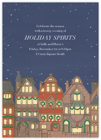 Back Bay Holiday - Paperless Post - Online Party Invitations