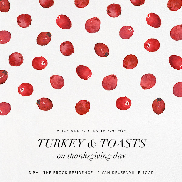 Bog's Bounty - Paperless Post - Thanksgiving invitations
