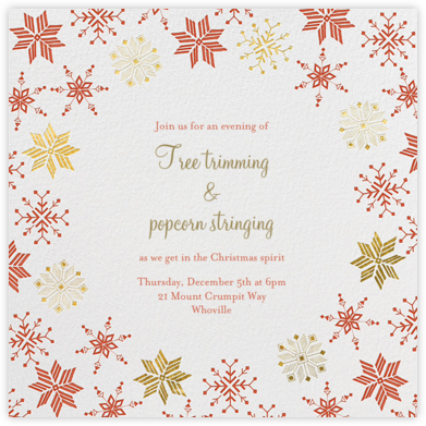 Carolling Season - White - Paperless Post - Holiday invitations