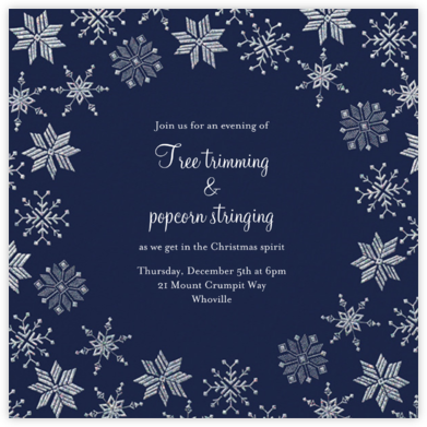 Carolling Season - Navy - Paperless Post - Winter entertaining invitations