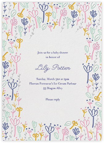 Little Sprouts - Little Cube - Baby Shower Invitations