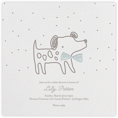 Pup's Night Out - Little Cube - Baby Shower Invitations