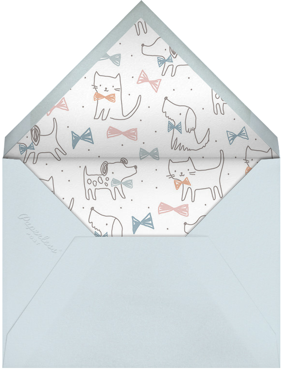 Pup's Night Out - Little Cube - Baby shower - envelope back