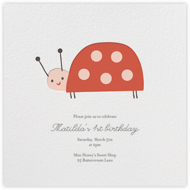 Little Lady - Little Cube - Birthday invitations