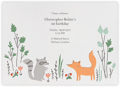 Bandit and Foxy - Little Cube - Online Kids' Birthday Invitations
