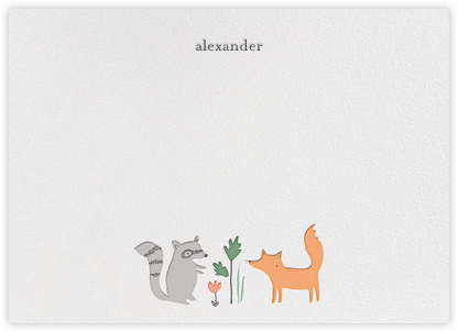 Bandit and Foxy (Stationery) - Little Cube - Baby and kids' stationery
