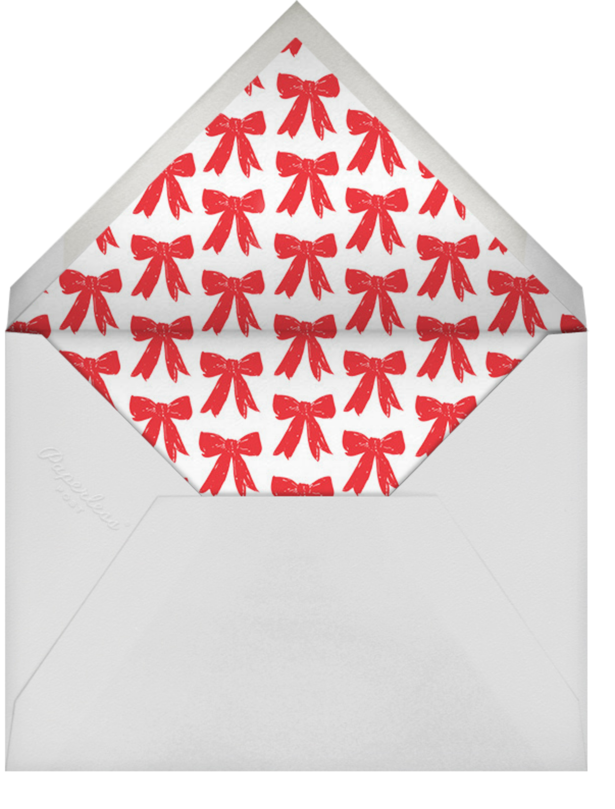 Christmas Bow Frame (Horizontal) - Red - Linda and Harriett - Christmas - envelope back