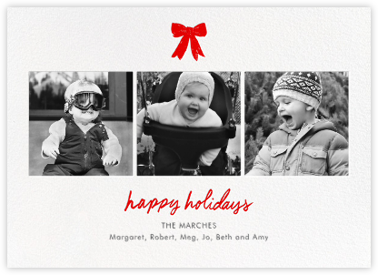 Holiday Triptych  - Linda and Harriett - Holiday cards