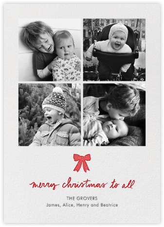 Christmas Windowpane - Linda and Harriett - Christmas Cards