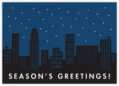 City Snow - Greetings - The Indigo Bunting - Holiday Cards