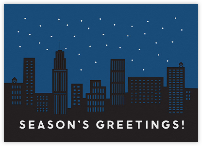 City Snow - The Indigo Bunting - Company holiday cards