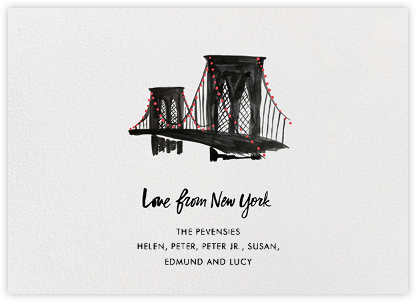 Love From New York - Linda and Harriett - Holiday Cards