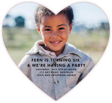 Full Bleed Heart (Single-Sided) - Paperless Post - Online Kids' Birthday Invitations