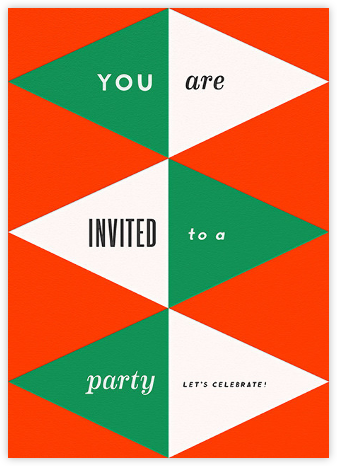 Deco Invite - Red and Green - The Indigo Bunting -