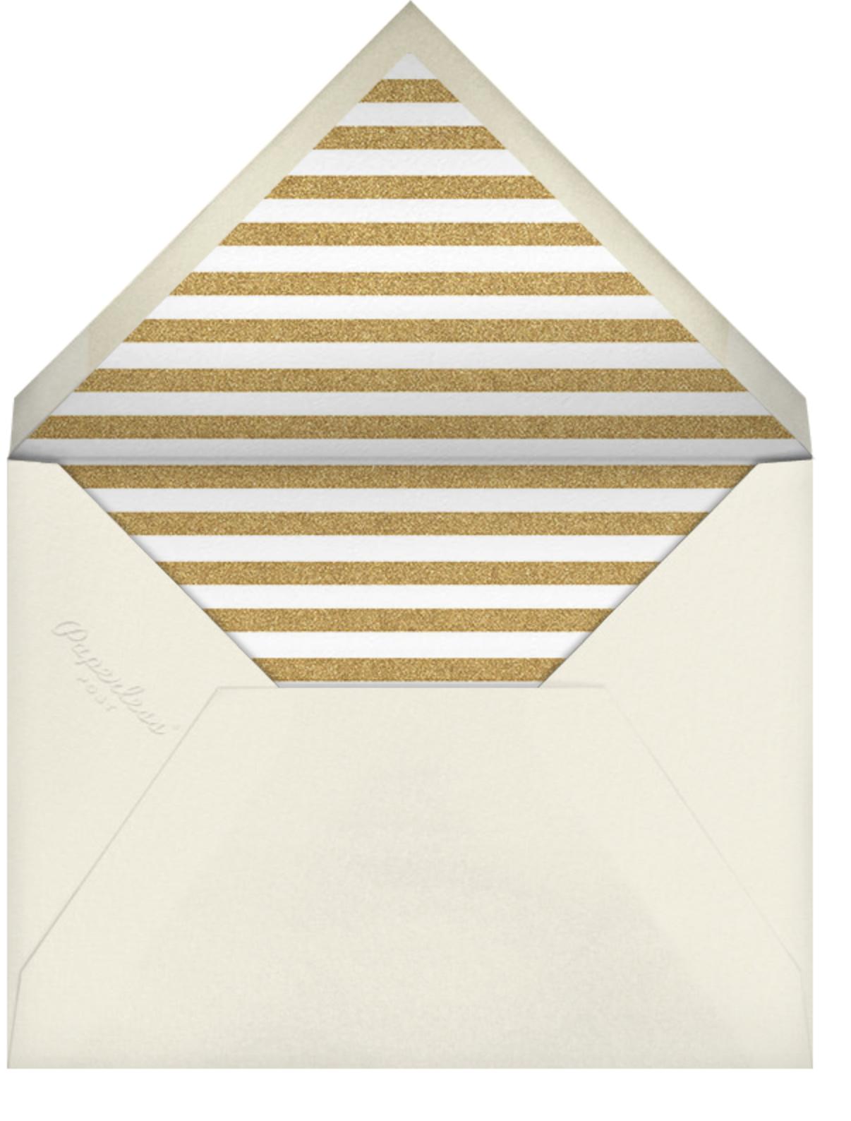 Deco Invite - Black And Gold - The Indigo Bunting - The Indigo Bunting - envelope back