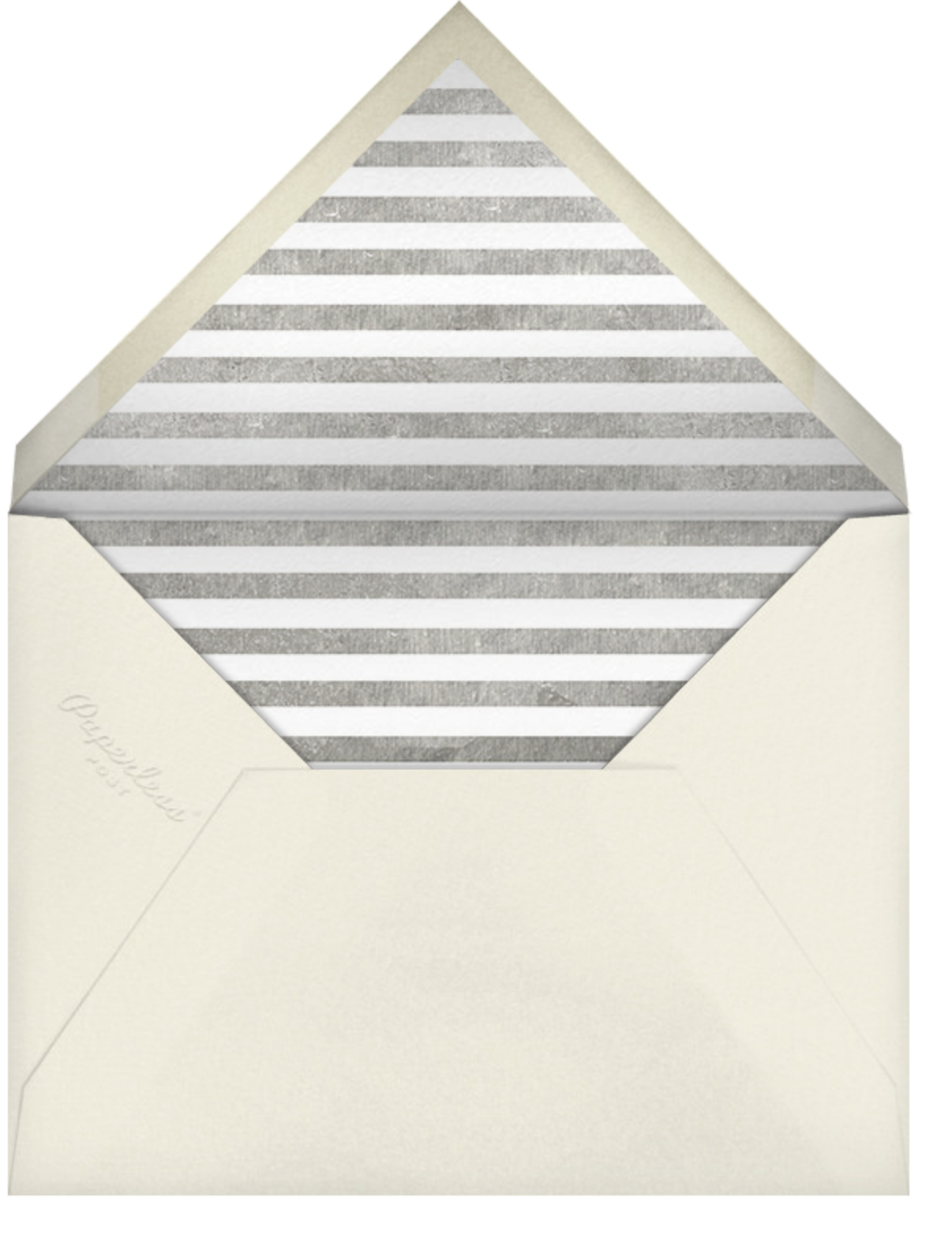 Deco Invite - Blue and SIlver - The Indigo Bunting - Winter entertaining - envelope back