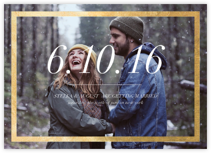Foiled Frame (Photo) - Gold - Paperless Post - Photo save the dates