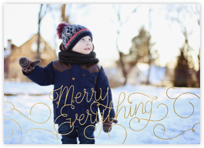 Merry Everything - Gold - Paperless Post -
