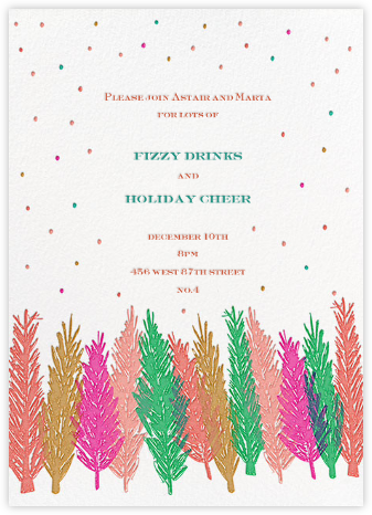 Gather Around the Tree - Multicolored - Mr. Boddington's Studio - Holiday invitations