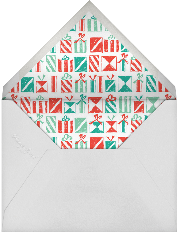 So Happy to See You - Mr. Boddington's Studio - Christmas party - envelope back