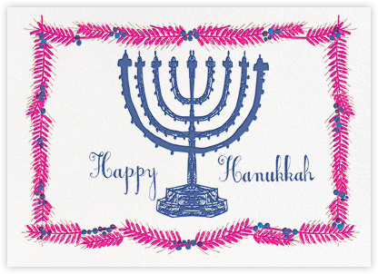 Light and Bright - Magenta - Mr. Boddington's Studio - Hanukkah Cards